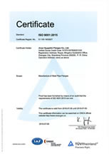 Jinan Hyupshin Flanges Co., Ltd Certified by TUV ISO9001 & CE PED Certification